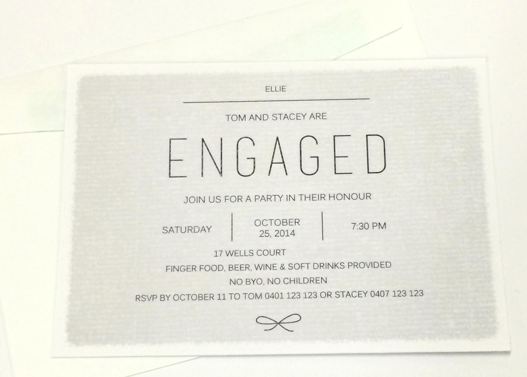 Engagment Invites